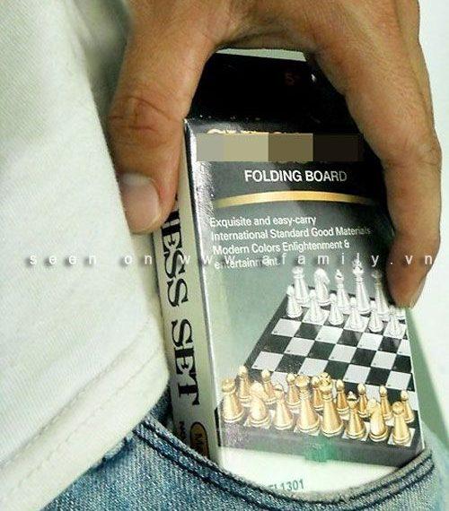 quà tặng cờ vua, bộ cờ vua cầm tay, bộ cờ vua bỏ túi