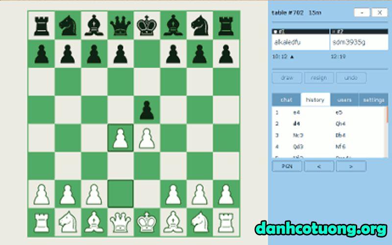 Chơi cờ vua online Playok
