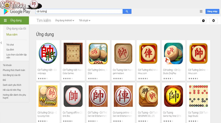 Game cờ tướng cho Android